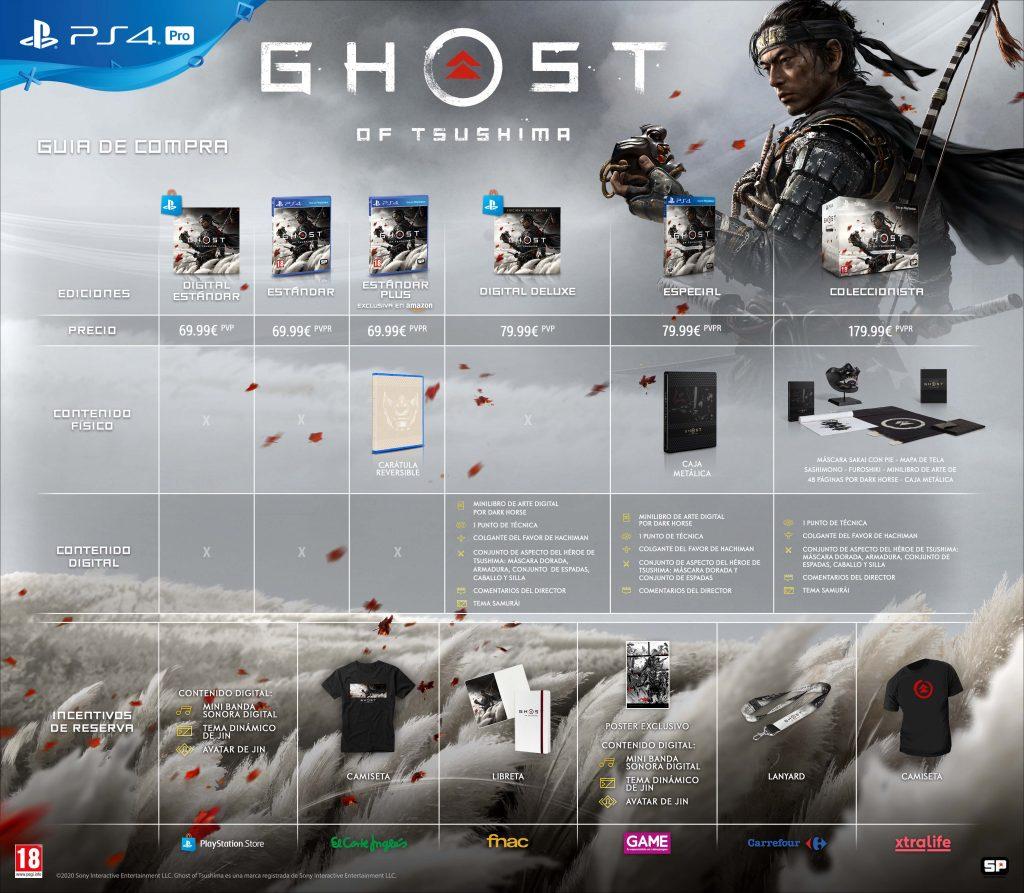 Guía de compra de Ghost of Tsushima